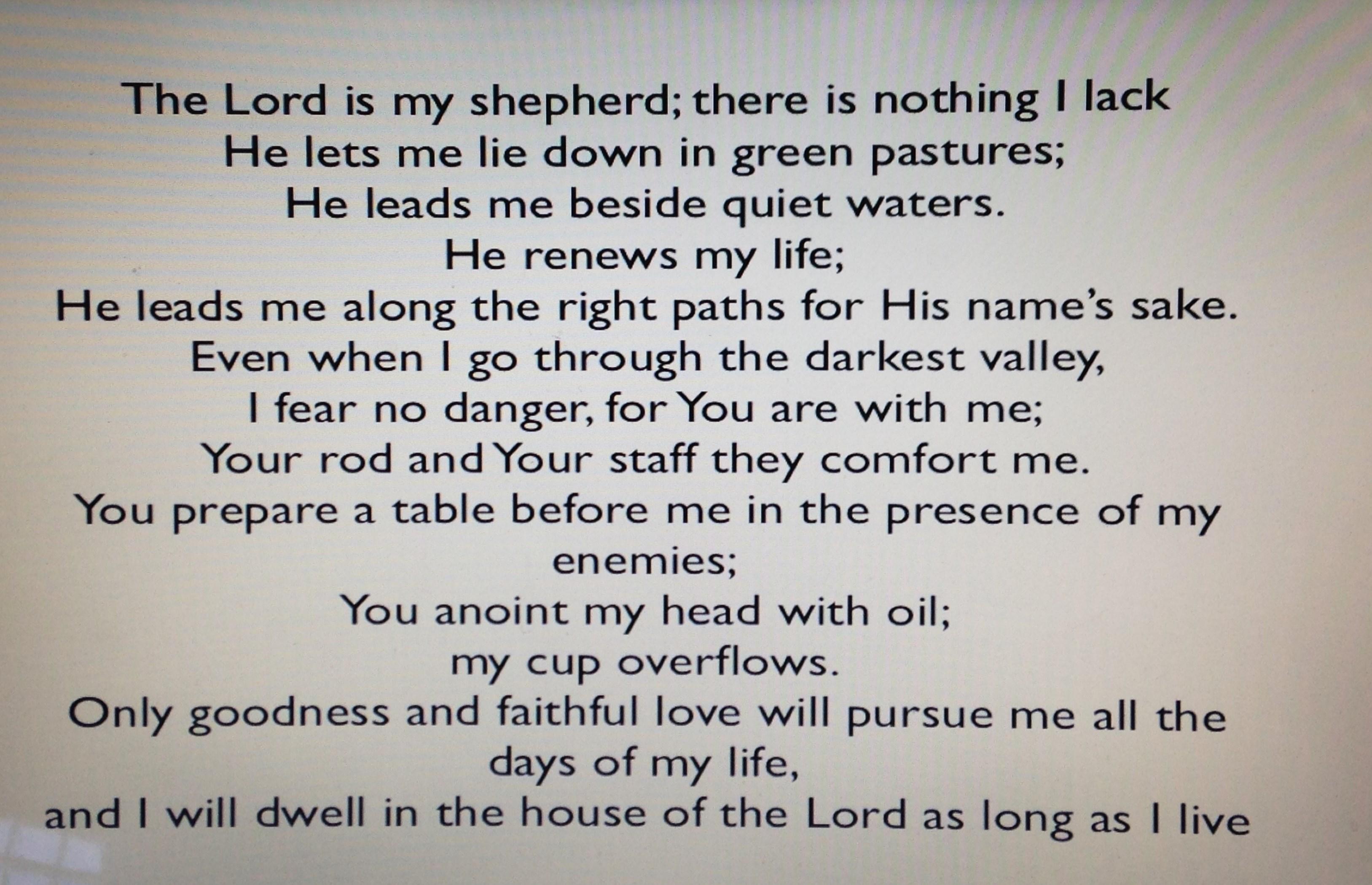 BLog - 23rd Psalm