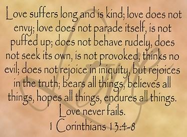 Blog - Love - 1 Corinthians 13