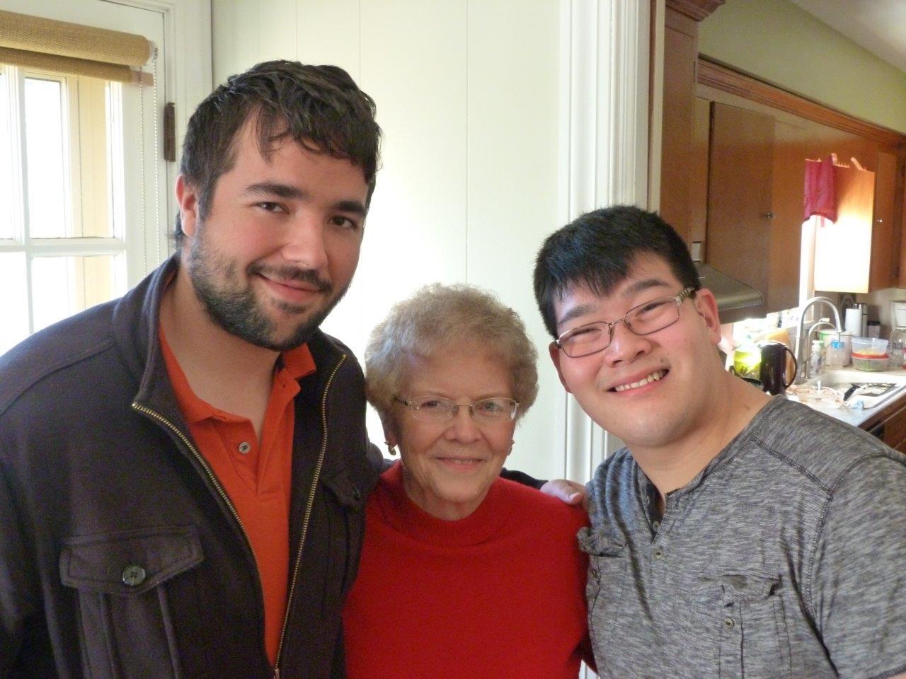 MomMom, Nathan, Daniel 2015